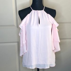 Off the shoulder pink top